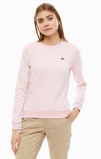 Розовый хлопковый свитшот Lacoste