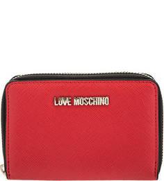 Красный кошелек с двумя отделами для купюр Love Moschino