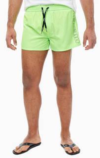 Ярко-зеленые купальные шорты с принтом Diesel