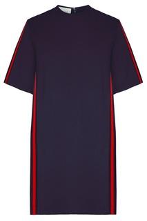 Синее платье-футболка с полосами Web Gucci