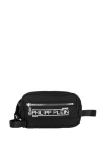 Черная поясная сумка с логотипом Philipp Plein