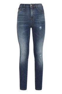 Укороченные джинсы-скинни Philipp Plein