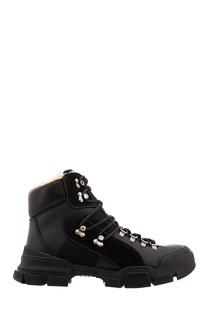 Высокие черные ботинки Gucci Man