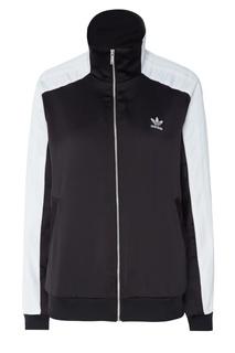 Черная с белым олимпийка Adidas