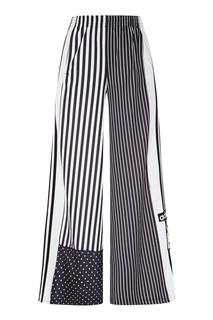 Широкие брюки с комбинированным принтом Adidas