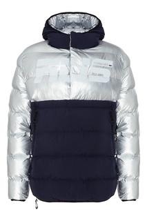 Серебристо-синяя утепленная куртка Fw Dlab