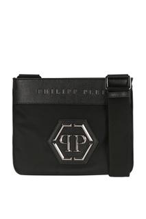 Черная сумка с логотипом Philipp Plein