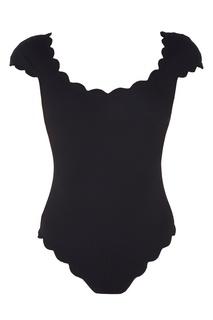 Черный купальник с короткими рукавами Marysia