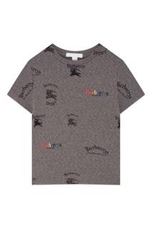 Серая футболка Burberry Kids