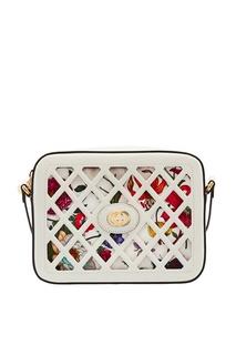 Компактная комбинированная сумка-кроссбоди Gucci