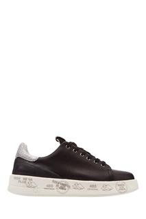 Черные кроссовки с глиттером Premiata