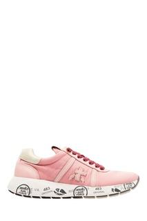 Розовые кроссовки с логотипом Premiata