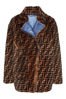 Меховая куртка с монограммами FF Fendi
