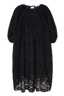 Черное кружевное платье-баллон Cecilie Bahnsen