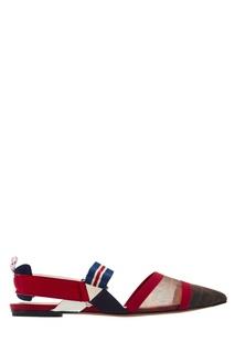 Остроносые туфли на плоской подошве Fendi
