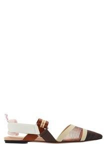 Разноцветные комбинированные мюли Fendi