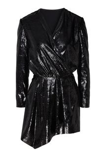 Черное платье с пайетками Mo&Co