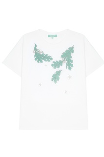 Белая футболка с принтом Akhmadullina Dreams