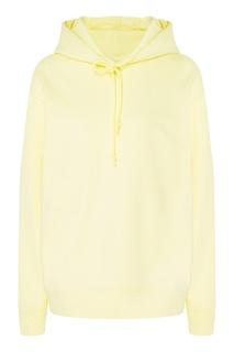 Желтое хлопковое худи Mo&Co