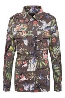 Куртка с принтом и кристаллами Philipp Plein