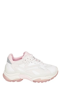 Белые комбинированные кроссовки Addict Ash