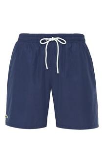 Синие шорты с эластичным поясом Lacoste