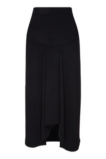 Черная юбка с асимметричным низом Adolfo Dominguez