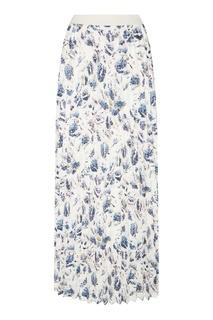 Плиссированная юбка с принтом Adolfo Dominguez