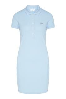 Голубое платье-поло Lacoste