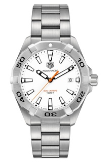 AQUARACER Кварцевые мужские часы с белым циферблатом Tag Heuer