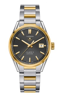 CARRERA Calibre 5 Автоматические мужские часы из стали и золота Tag Heuer