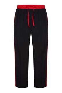Черные брюки с красной отделкой Gucci Man