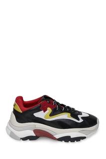 Желто-красно-черные кроссовки Ash