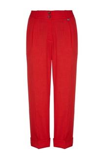 Укороченные красные брюки со стрелками Adolfo Dominguez