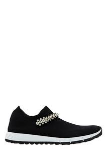 Черные кроссовки Verona с кристаллами Jimmy Choo