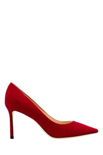 Красные туфли Romy 85 из замши Jimmy Choo