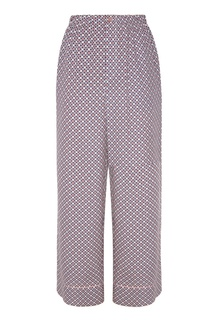 Шелковые брюки с мозаичным принтом Fendi