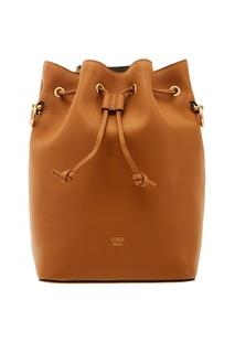 Светло-коричневая сумка Mon Tresor Fendi