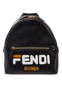 Черный мини-рюкзак с монограммами FF Fendi