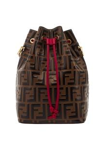 Кожаная сумка с монограммами Mon Tresor Fendi