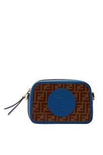Сине-коричневая сумка с монограммами FF Fendi