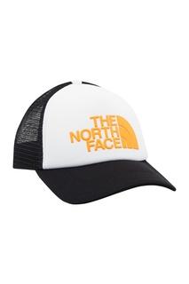 Черно-белая бейсболка с желтым логотипом The North Face