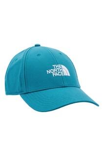 Голубая бейсболка с белым логотипом The North Face
