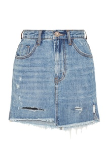 Асимметричная джинсовая мини-юбка One Teaspoon