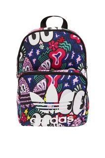 Рюкзак с разноцветным принтом и логотипом Adidas