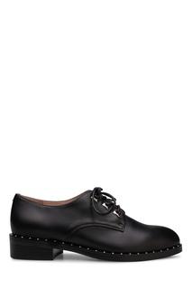 Черные кожаные ботинки с отделкой Portal