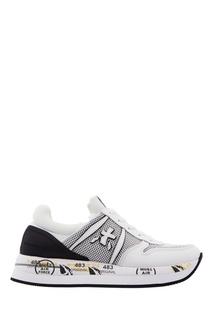 Белые кроссовки с сетчатыми вставками Premiata