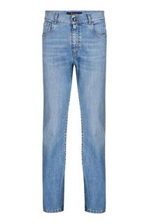 Голубые джинсы с вышивкой Billionaire