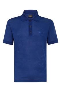 Синяя хлопковая футболка-поло Billionaire