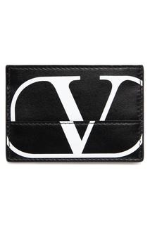 Черная визитница с логотипом Valentino